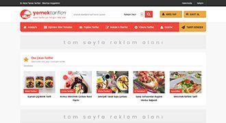 WordPress Yemek Tarifleri Teması