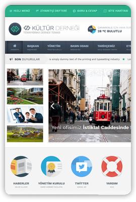 WordPress Responsive Köy Dernek Belediye Teması